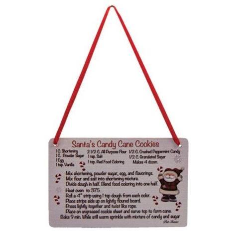 Santa's Cookies Recipe Ornament