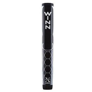 "Winn Pro X 1.60"" Black/Silver Putter Golf Grip"