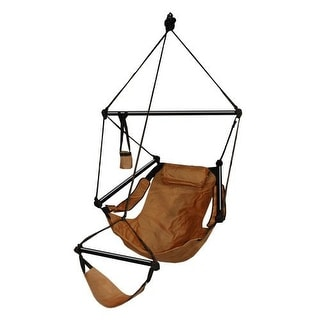 Hammaka Strong & Comfort Hanging Chair Aluminum Dowels for Indoor/Outdoor - Natural Tan