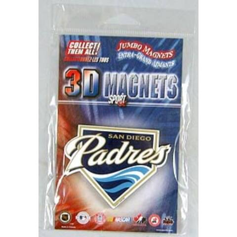 """San Diego Padres Jumbo 3D Magnet - 4"""" tall by 3"""" wide"""