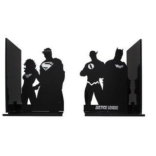 DC Comics Justice League Superhero Silhouette Bookends - Multi