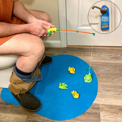 Evelots Magnetic Fishing Game for Adults & Children-Toilet Game Novelty Gag Gift