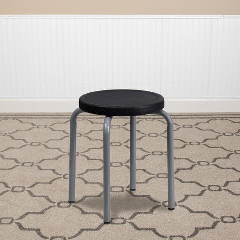 Stackable Stool with Powder Coated Frame