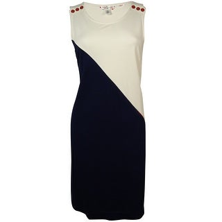 Tommy Hilfiger Women's Asymmetrical Ponte Shift Dress - 4