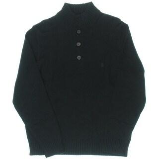 Izod Mens Knit Mock Neck Pullover Sweater