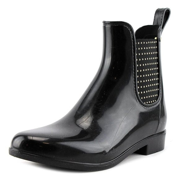 Guess Rekha Women Round Toe Synthetic Black Rain Boot