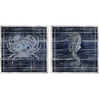 PTM Images 979461 Crab and Seahorse Prints (Set of 2) - N/A