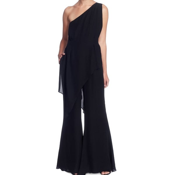 dfdd431afd69 Shop Catherinie Catherine Malandrino Black Womens Size 6 Silk Jumpsuit - On  Sale - Free Shipping Today - Overstock - 27332076