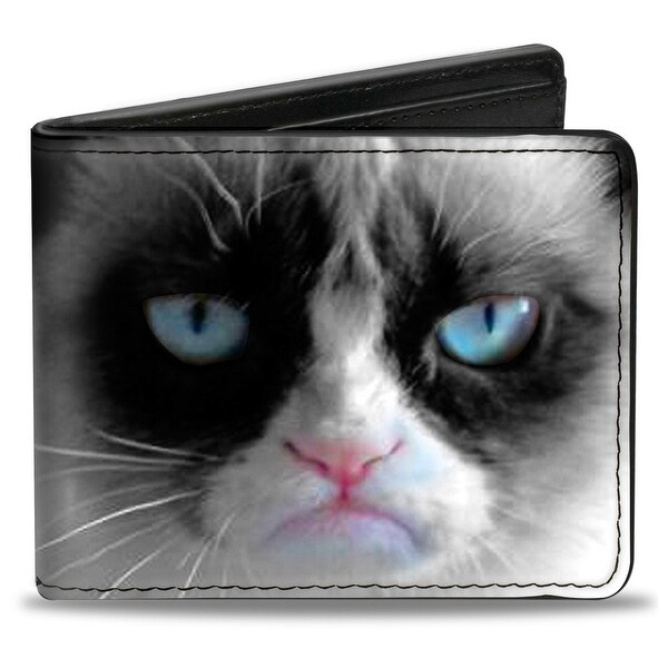 Grumpy Cat Face Close Up Bi Fold Wallet - One Size Fits most