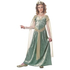Girls Queen Guinevere Medieval Halloween Costume (4 options available)