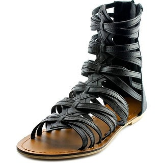 Charles By Charles David Austin Women Open Toe Synthetic Black Gladiator Sandal