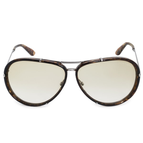 f13da7866d Shop Tom Ford Cyrille Aviator Sunglasses FT0109 14P 63 - Free ...