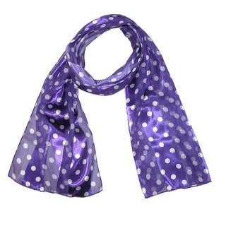 CTM® Women's Satin Polka Dot Scarf - One size