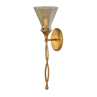 "26.5"" Pre-lit Glam 1 Light Gold Sconce - N/A"