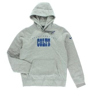 Nike Mens Indianapolis Colts NFL Practice Club Hoodie Grey - Grey/Blue