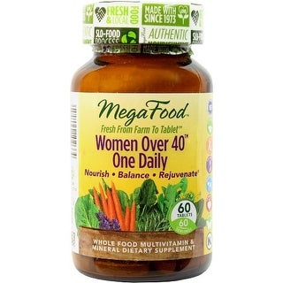 MegaFood - Women Over 40 One Daily, Promotes Immune Health & Well-being, 60 Tablets