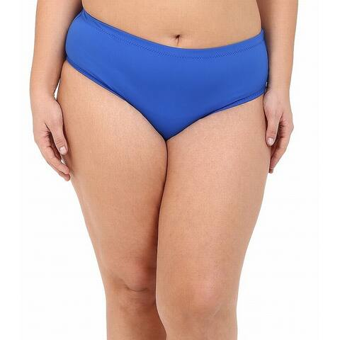 Becca By Rebecca Virtue Blue Womens 0X (14-16) Plus Bikini Bottom
