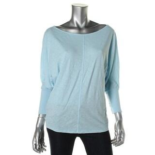 Stateside Womens Cotton V-Neck T-Shirt - M