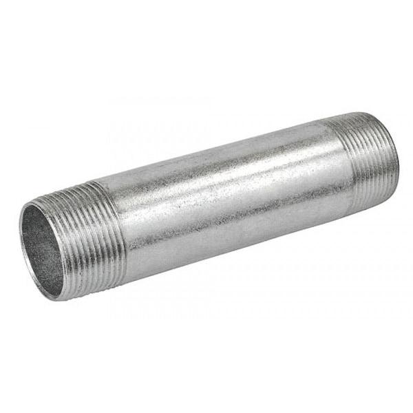 1 Pc, 10 in. Long 3/4 in. Galvanized Rigid Conduit Pipe Nipple, Zinc Plated Steel