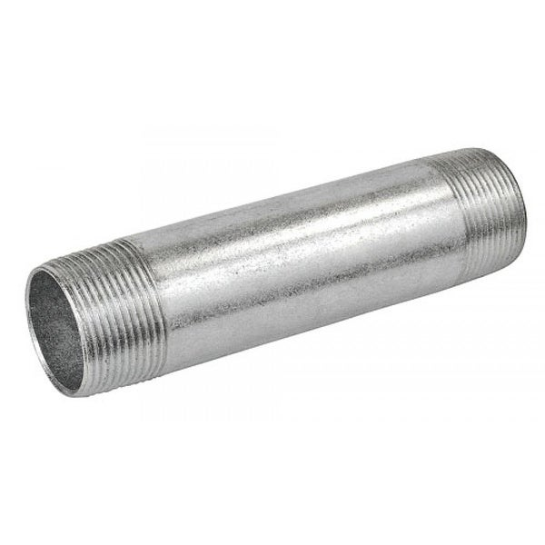10 Pcs, 6 in. Long 1/2 in. Galvanized Rigid Conduit Pipe Nipple, Zinc Plated Steel