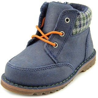 Ugg Australia Orin Toddler Round Toe Leather Blue Boot