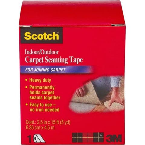 """Scotch CT4010 Indoor/Outdoor Carpet Seaming Tape for Joining Carpets, 2.5"""" x 15'"""