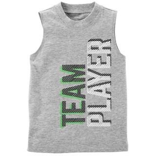 Carter's Little Boys' Tiny & Tough Sports Tank - heather/team player