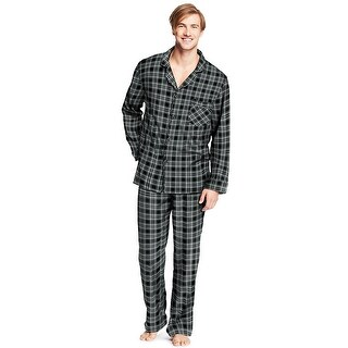 Hanes Men's Flannel Pajamas - Size - S - Color - Black Madras