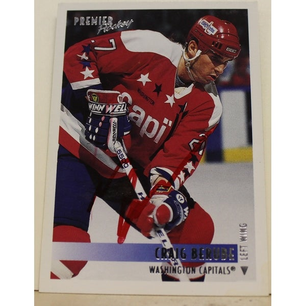 bd923fd5b6b Shop Craig Berube Washington Capitals Autographed 1994-95 Premier Card -  Free Shipping On Orders Over  45 - Overstock - 12786323