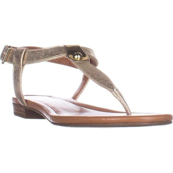 Style & Co. SC35 Baileyy T-Strap Flat Sandals - Light Gold - 10