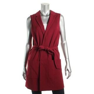 Tommy Hilfiger Womens Vest Blazer Tie-Belt