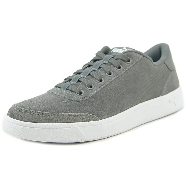 Puma Court Breaker SD Men Round Toe Suede Gray Sneakers
