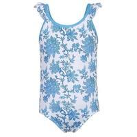 Sun Emporium Little Girls Blue Paisley Action Back One Piece Swimsuit