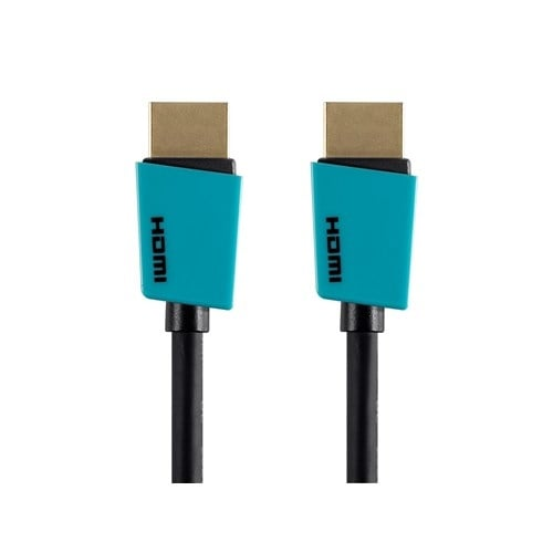 Monoprice 6 ft Palette Series High Speed HDMI Cable - Blue Network Cable