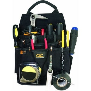 CLC Work Gear 5505 Professional Electrician's Tool Pouch, 12 Pocket, Black