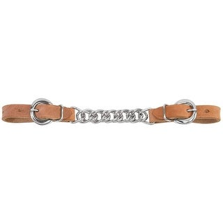 """Weaver 30-1355 Russet Harness Leather Single Flat Link Chain Curb Strap, 5/8"""""""