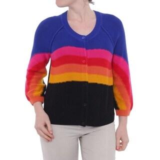 Sonia Rykiel 3/4 Sleeve Button Down Cardigan Women Regular Sweater