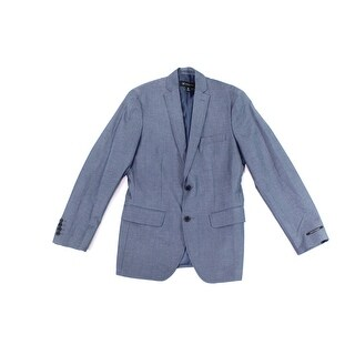 INC NEW Blue Mens Size S Regular-Fit Two Button Notched Lapel Blazer