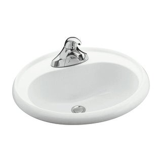 """Sterling 75010140 20"""" Vikrell Drop In Bathroom Sink With Three Holes Drilled And Overflow"""