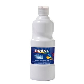 Prang Ready-to-Use Washable Tempera Paint, Quart, White