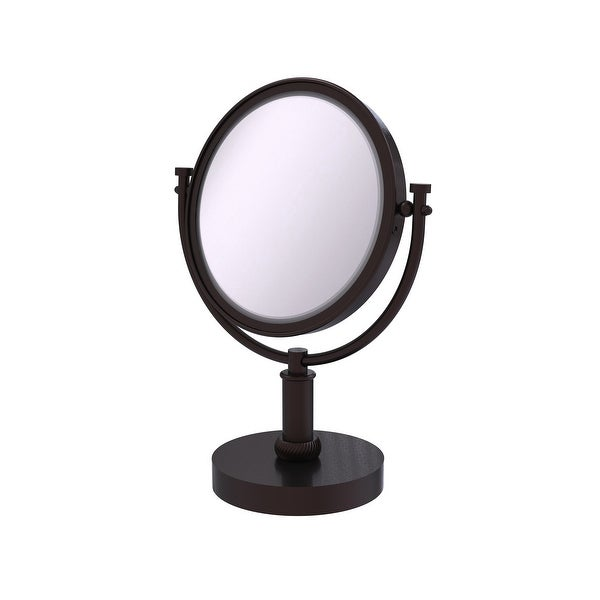 Allied Brass 8-in Vanity Top Make-Up Mirror 4X Magnification