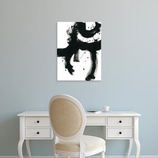 Easy Art Prints June Erica Vess's 'Onyx Gesture I' Premium Canvas Art