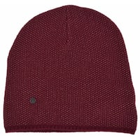 Gucci 352350 Men's Burgundy Beige Wool Cashmere Beanie Ski Winter Hat Large