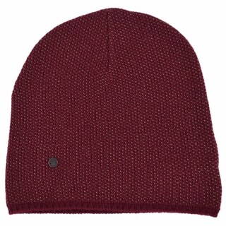 Gucci 352350 Men's Burgundy Beige Wool Cashmere Beanie Ski Winter Hat XL