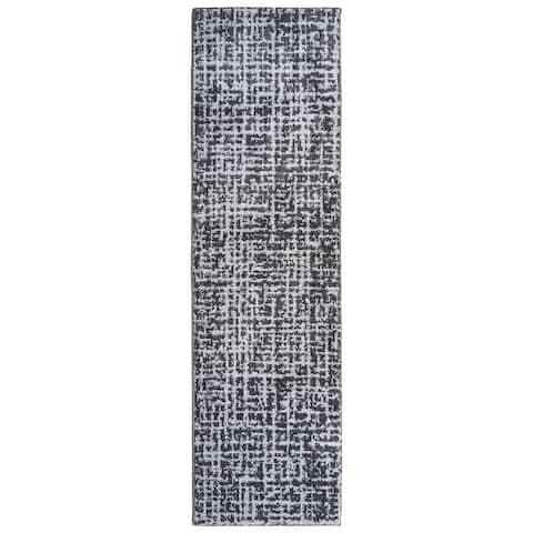 Garland Rug Reverb 2 ft. x 7 ft. Area Rug Cinder Gray/Silver