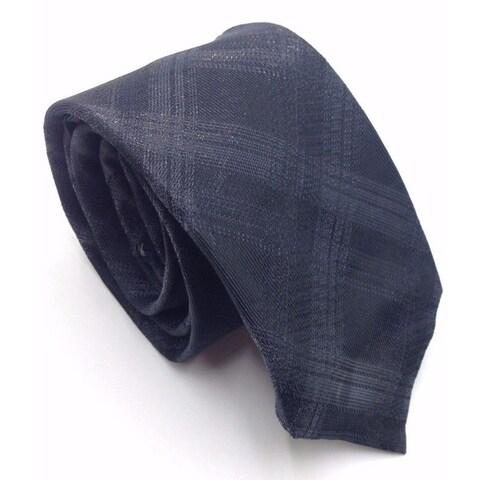 Ryan Seacrest Distinction Black Mens One Size Lurex Plaid Neck Tie