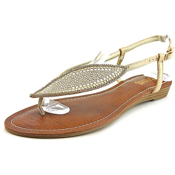 Carlos by Carlos Santana Laverne Women Open-Toe Canvas Gold Slingback Sandal