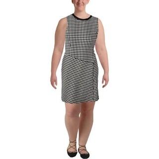Lauren Ralph Lauren Womens Wear to Work Dress Textured Houndstooth