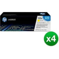 HP 125A Yellow Original LaserJet Toner Cartridge (CB542A)(4-Pack)