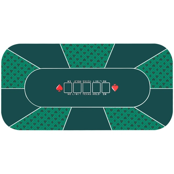 Costway 71'' x 36'' Rubber Foam Poker Table Top Layout Game Mat 8